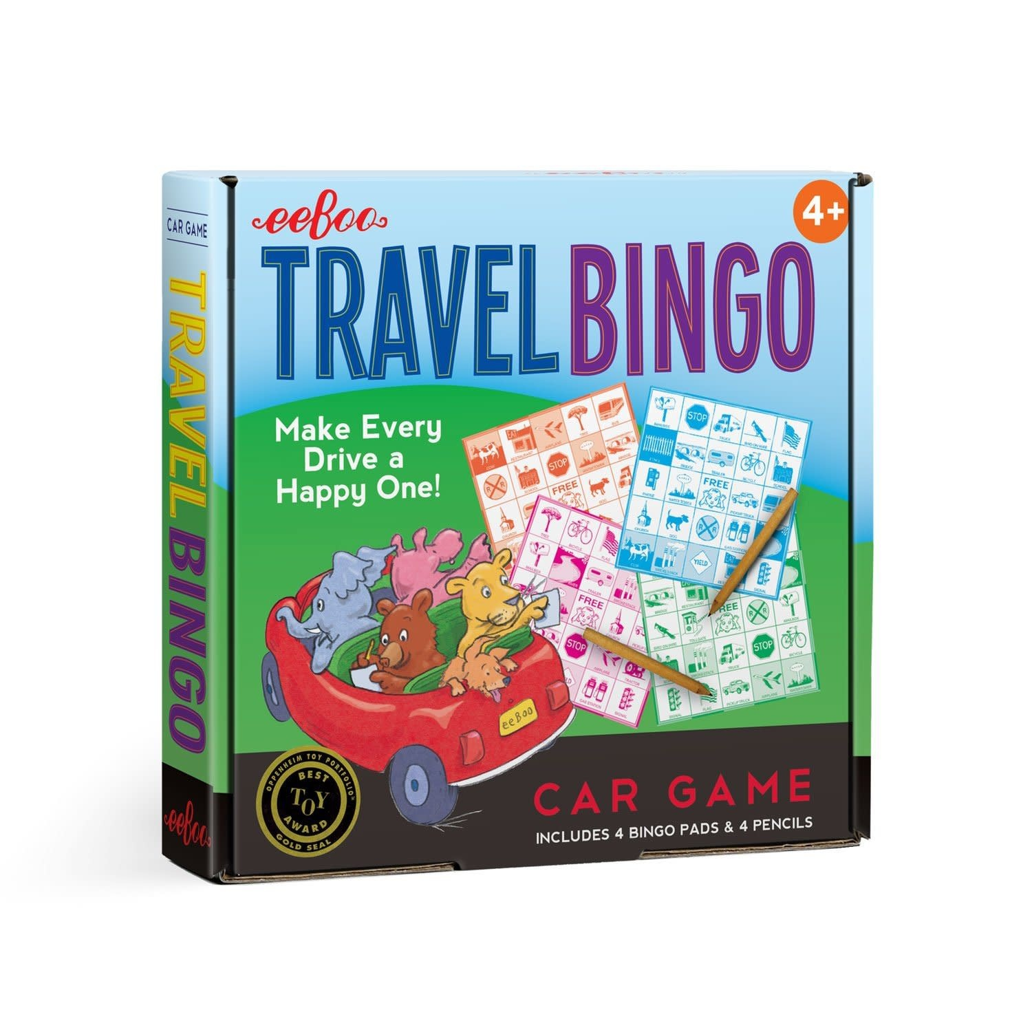 Eeboo Travel Bingo Car Game (with Pads and Pencils)