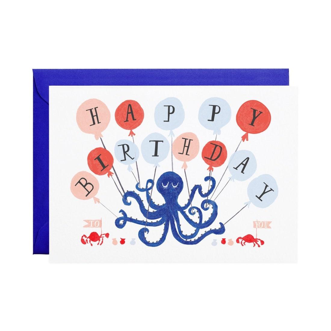 Eight Balloons (Birthday Card)