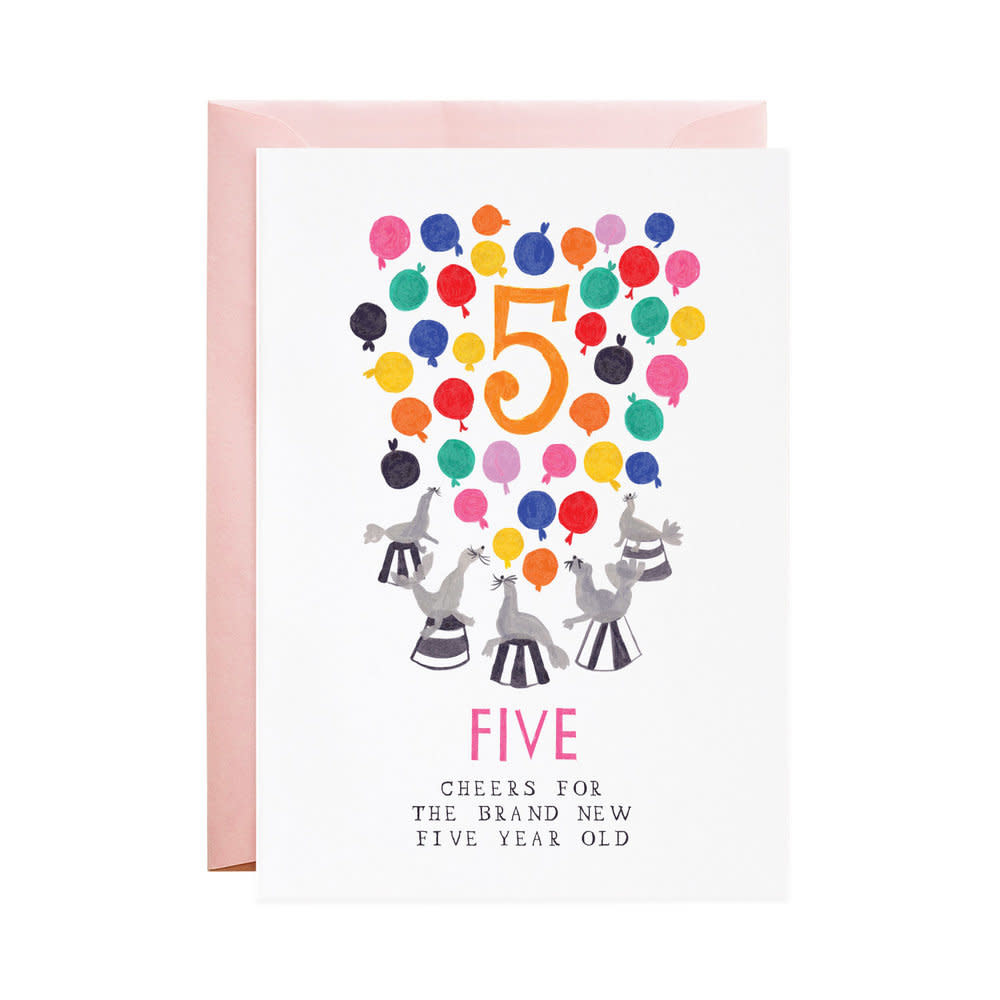 Five Silly Seals (Birthday Card)