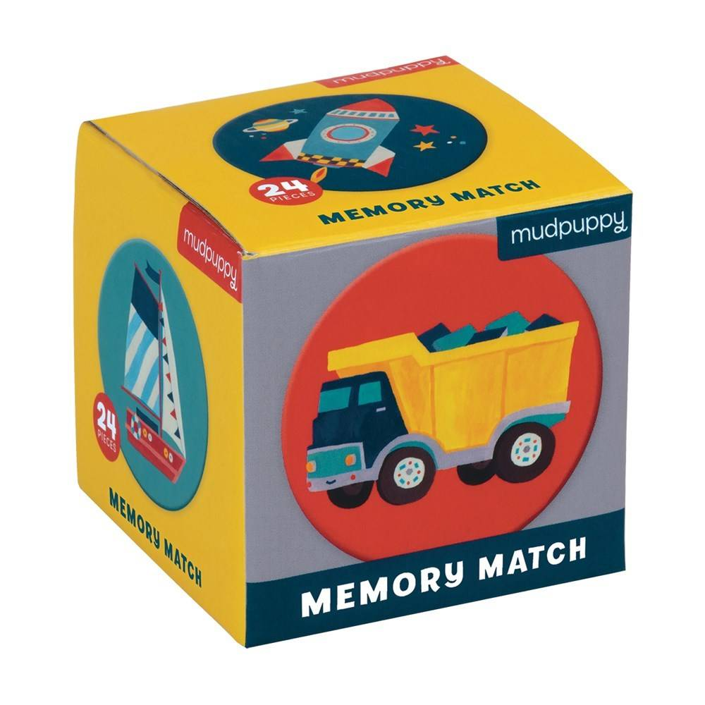 Mudpuppy Mini Memory Match Game: Transportation