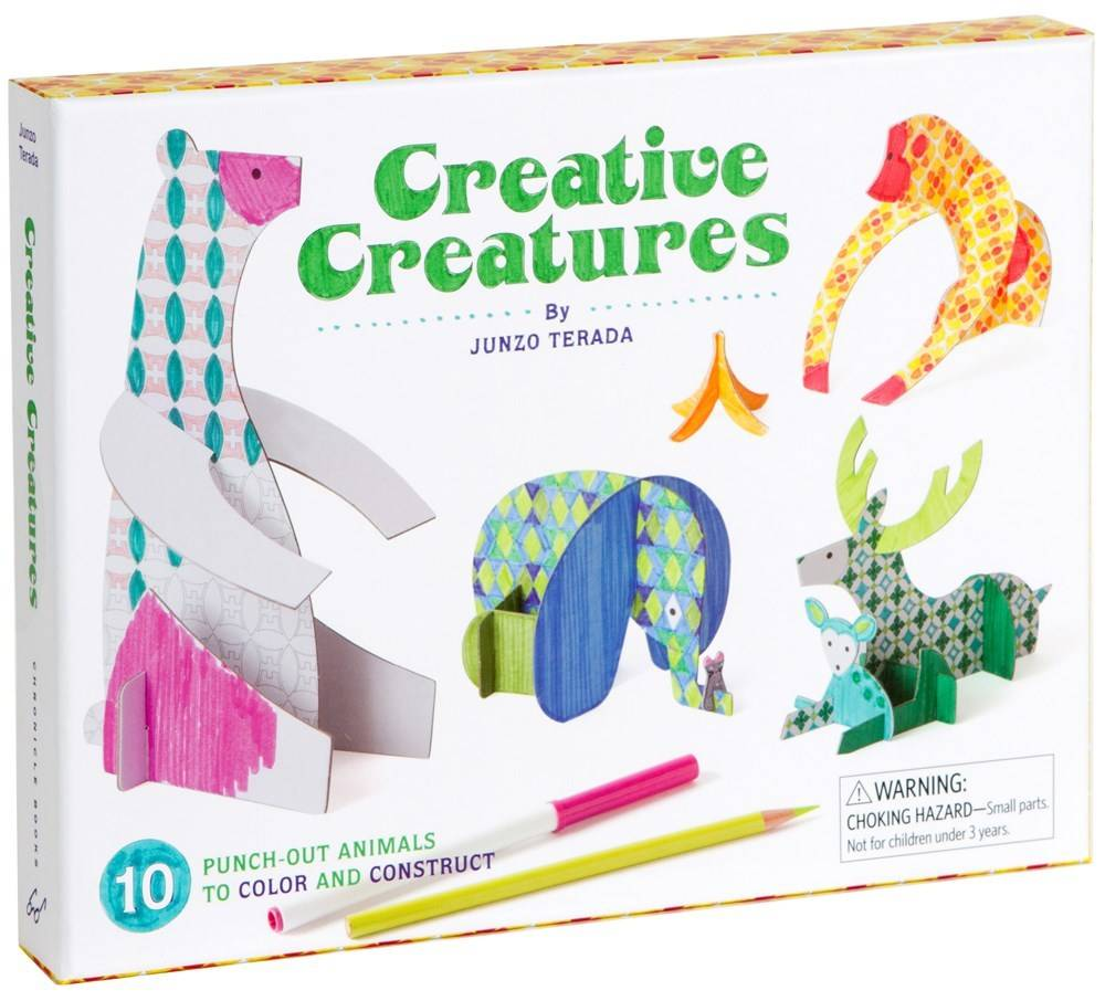 Chronicle Books *Creative Creatures: Animals to Color and Construct