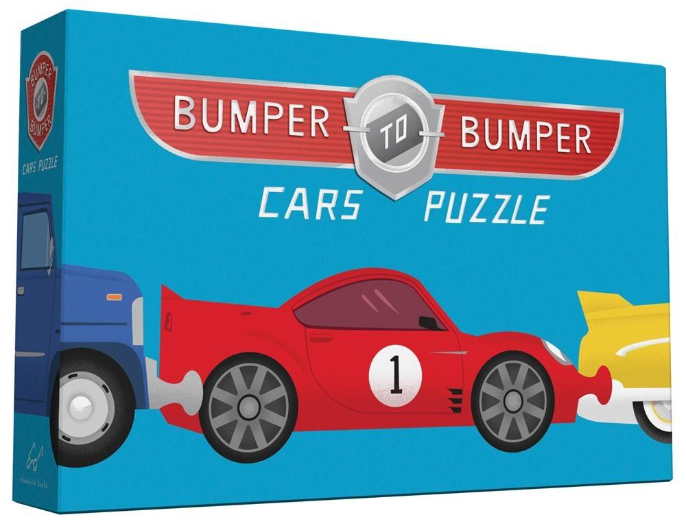 Chronicle Books Bumper to Bumper Cars (10-Piece, 2-Sided Floor Puzzle)
