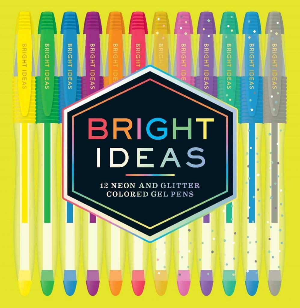 Chronicle Books Bright Ideas: Neon and Sparkle Gel Pens (Set of 12)