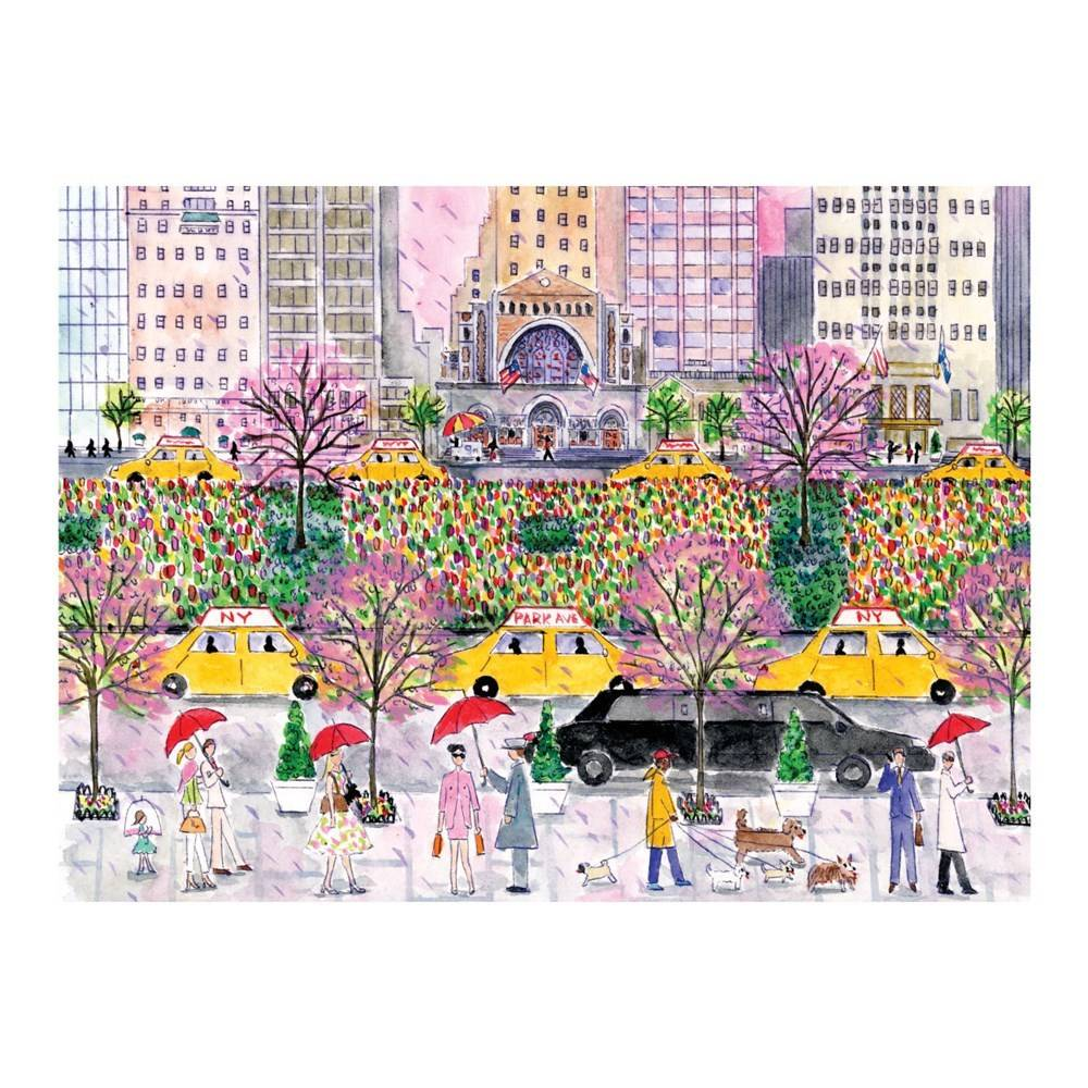 Galison Spring on Park Avenue Puzzle (1000-Piece Jigsaw)