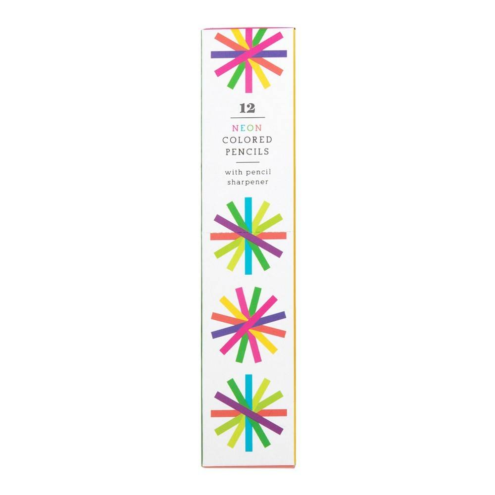 Galison Neon Colored Pencils (Set of 12 with Sharpener)