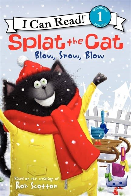 Dover Publications Splat the Cat: Blow, Snow, Blow (I Can Read!, Lvl 1)