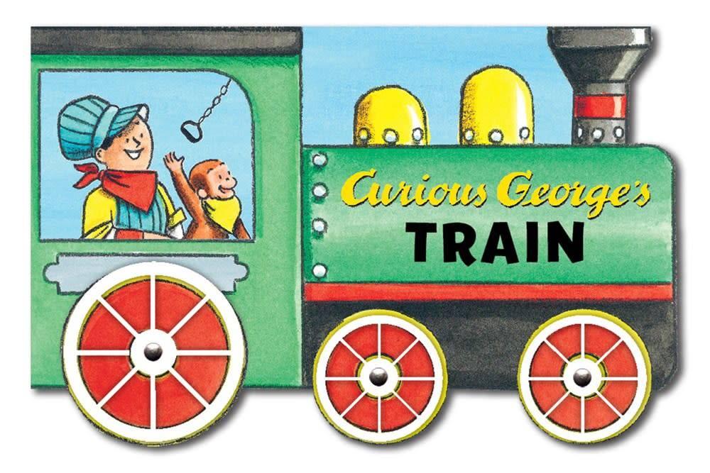 Houghton Mifflin Harcourt Curious George's Train-Shaped Book