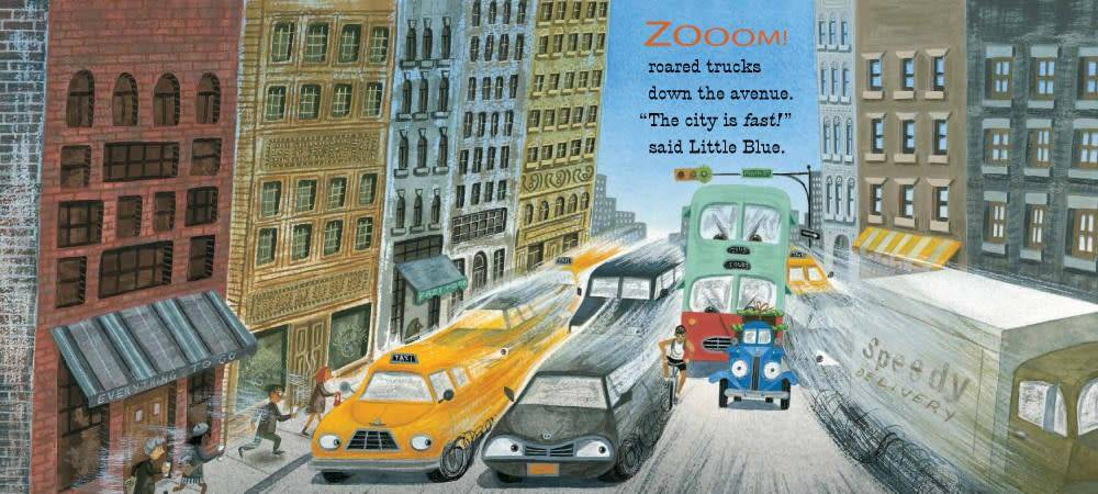 Houghton Mifflin Harcourt Little Blue Truck 02 Leads the Way (Small Board Book)