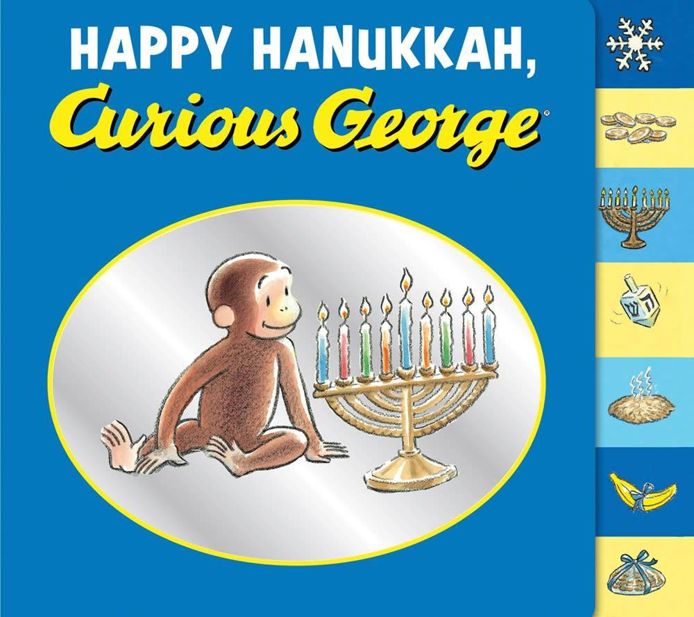 Curious George: Happy Hanukkah (Tabbed Board Book)