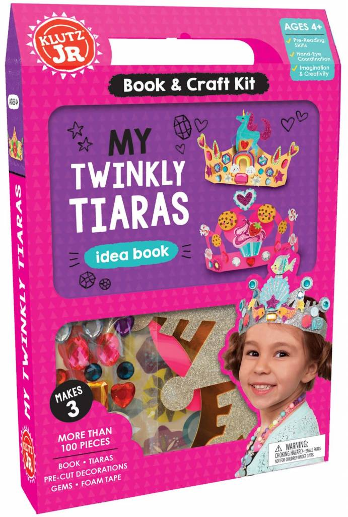 Scholastic Inc. Klutz Jr.: My Twinkly Tiaras Idea Book (and Craft Kit)