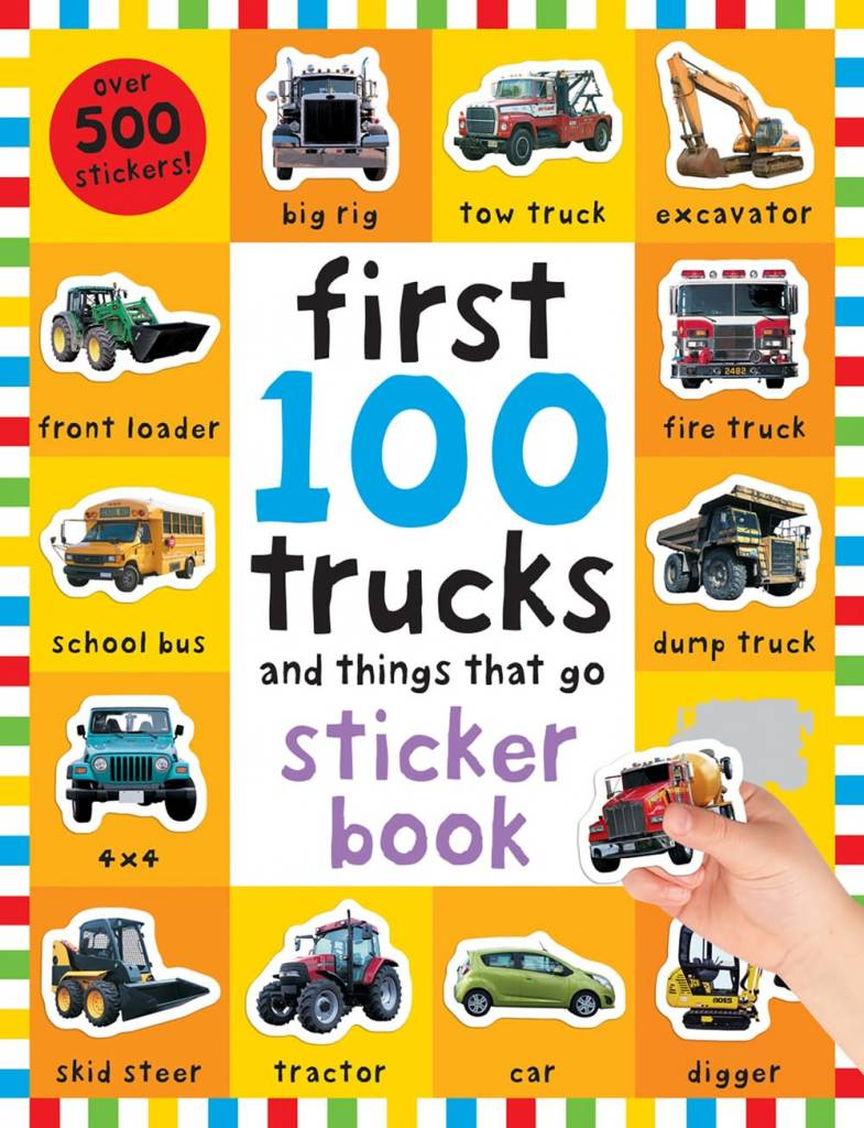 Priddy Books First 100 Trucks and Things That Go (Sticker Book)