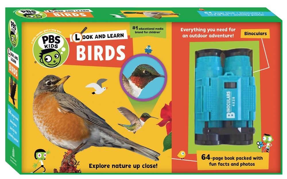Downtown Bookworks PBS Kids: Look & Learn: Birds (Book, Binoculars, Poster...