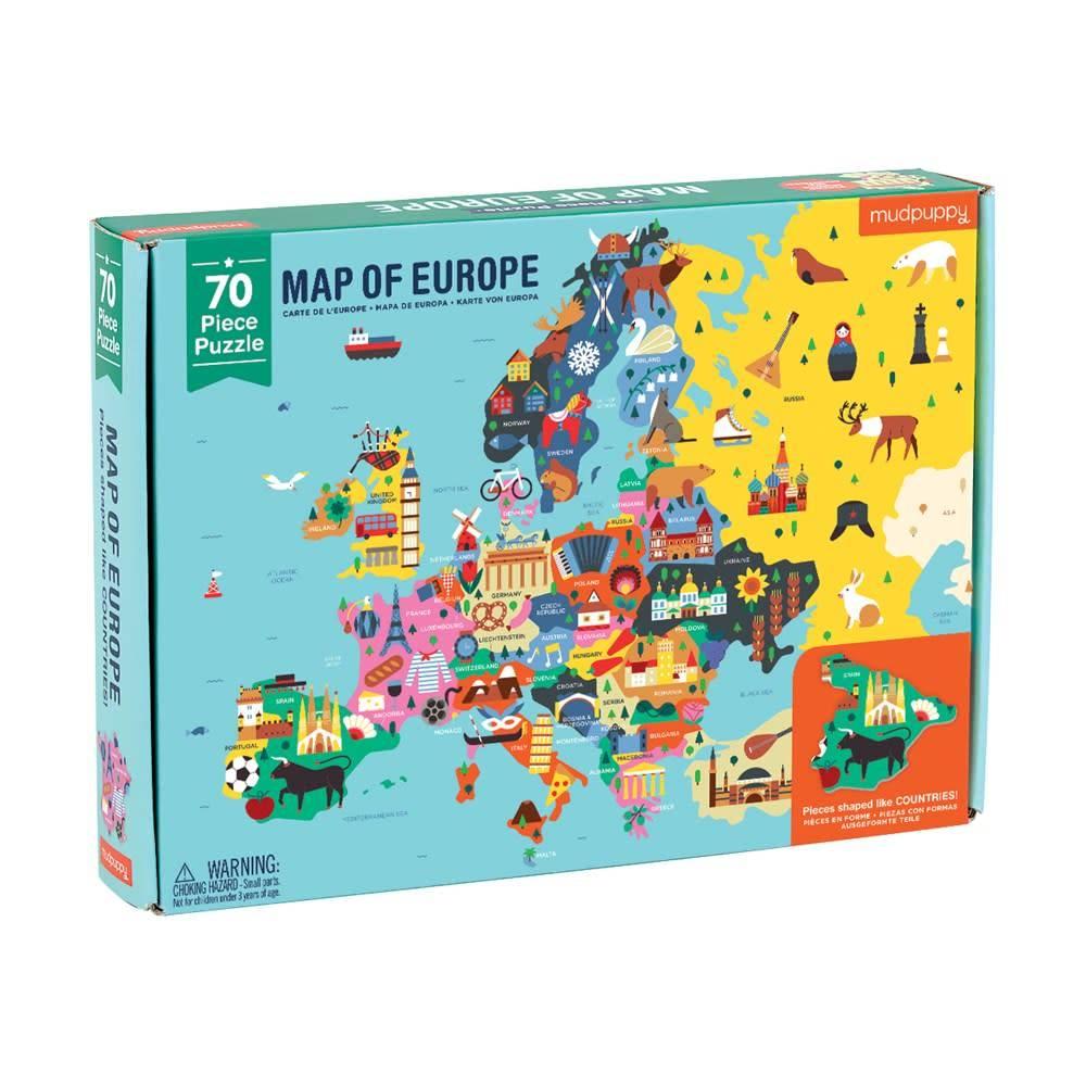 Mudpuppy Map of Europe Puzzle (70 Piece Jigsaw)