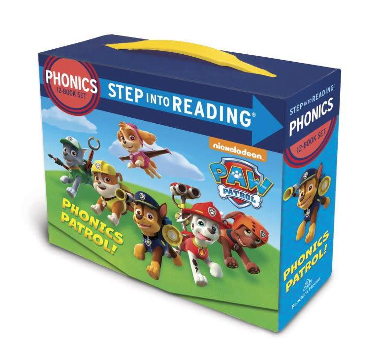 Paw Patrol Phonics Boxed Set (Step-into-Reading, 12 Booklets)