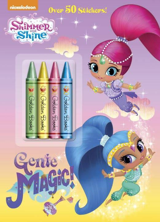 Golden Books Shimmer and Shine: Genie Magic (Crayons and Stickers)