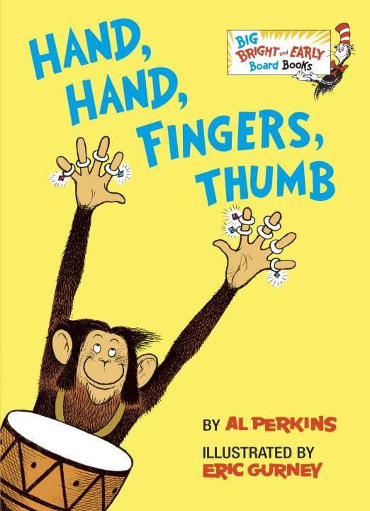 Random House Books for Young Readers Hand, Hand, Fingers, Thumb (Big Bright & Early Board Books)
