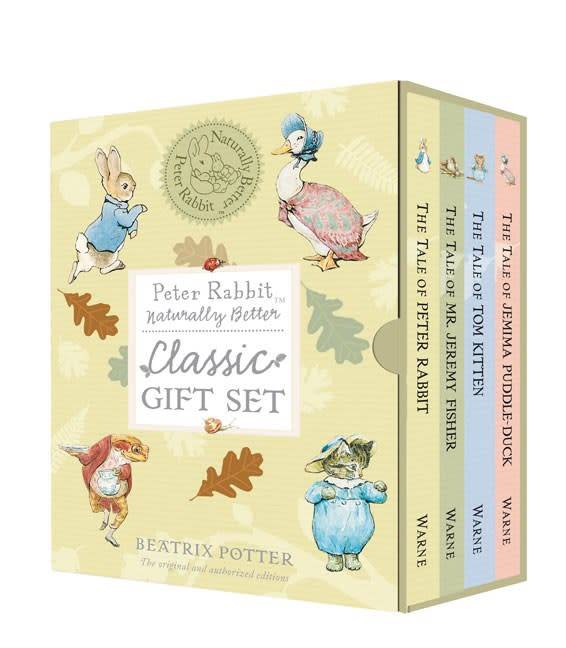 Warne Peter Rabbit: Naturally Better Classic Gift Set (4 books)