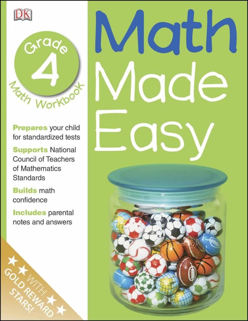 Math Made Easy: Grade 4: Math Workbook
