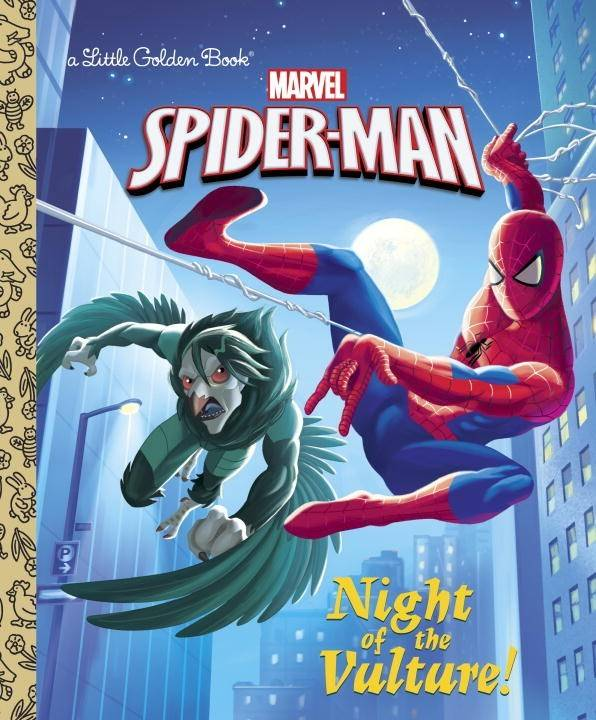 Golden Books Marvel Spider-Man: Night of the Vulture!