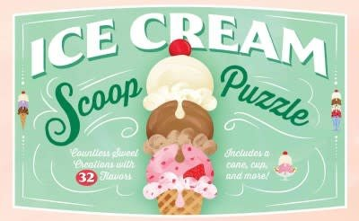 Chronicle Books Ice Cream Scoop Puzzle