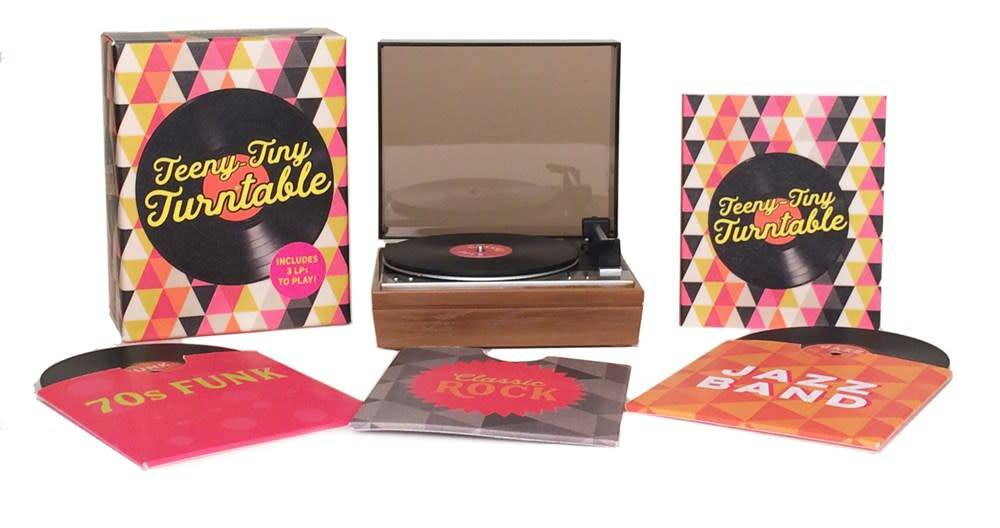 Running Press Teeny-Tiny Turntable: Includes 3 Mini-LPs to Play!