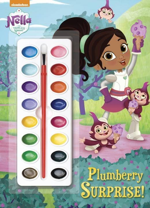 Golden Books Nella the Princess Knight: Plumberry Surprise! (Paint Box Book)