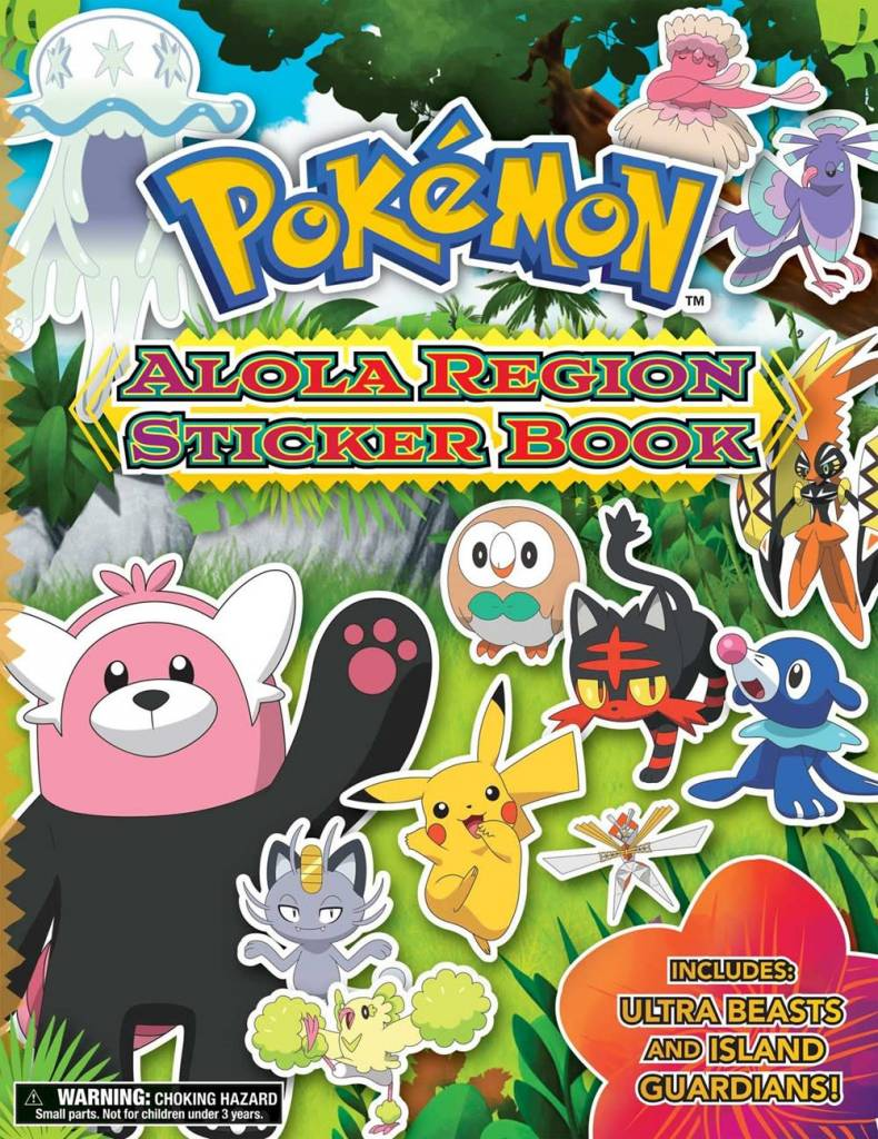 Pikachu Press Pokémon Alola Region Sticker Book