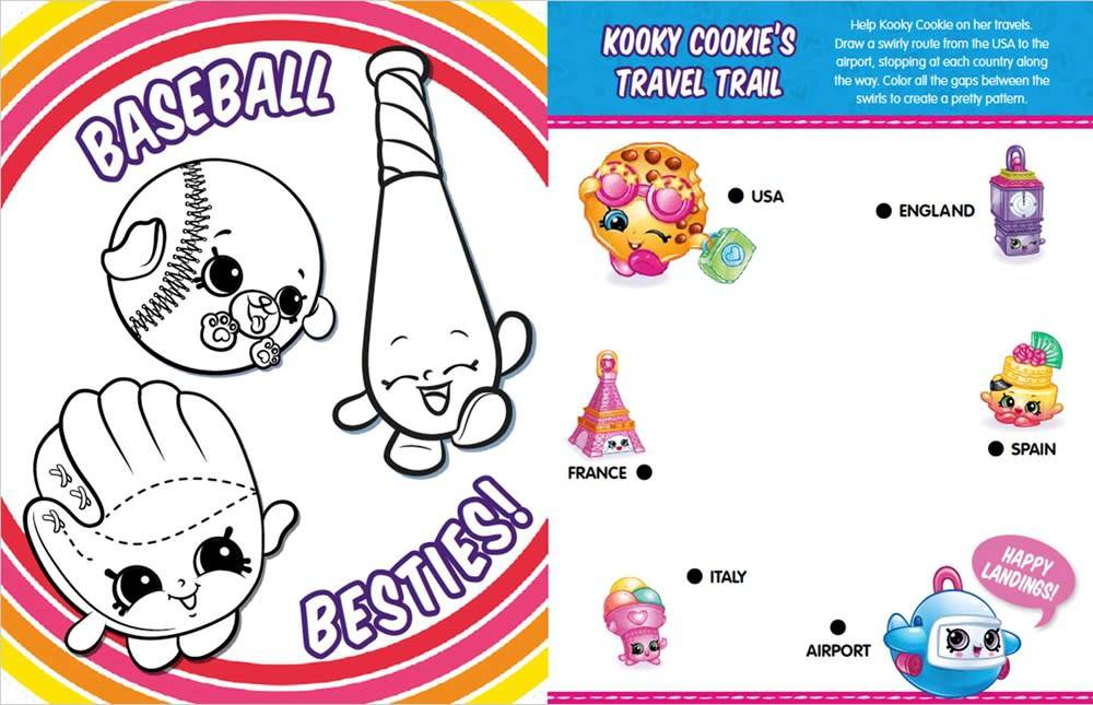 little bee books Shopkins: Oodles of Doodles (Sticker Activity Book)