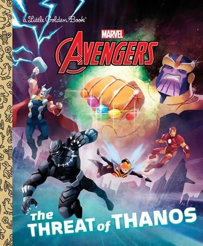 Golden Books The Threat of Thanos (Marvel Avengers)