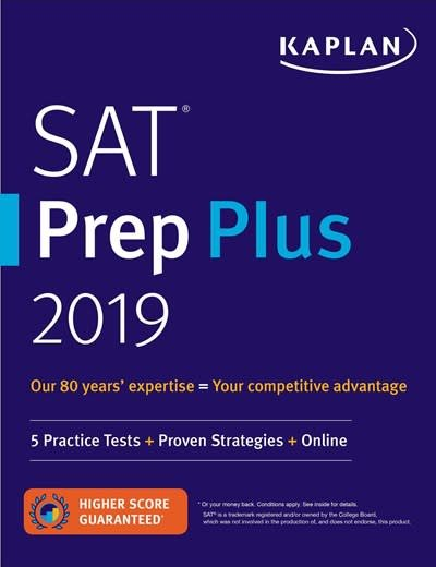 Kaplan Publishing SAT Prep Plus 2019