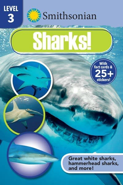 Silver Dolphin Books Smithsonian Reader Level 3: Sharks!