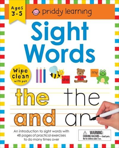 Priddy Books Wipe Clean Workbook: Sight Words (enclosed spiral binding)