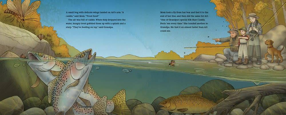 Abrams Books for Young Readers Down by the River: A Family Fly Fishing Story