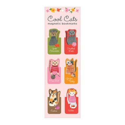 Galison Cool Cats Magnetic Bookmarks