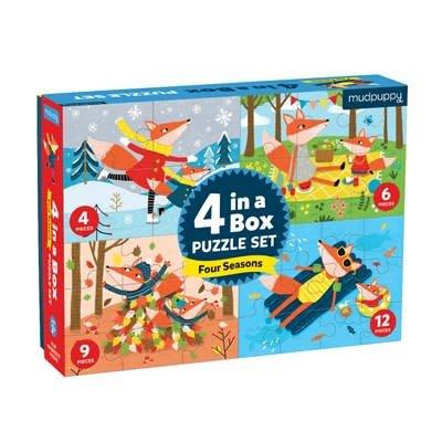 Mudpuppy Four Seasons Puzzle 4 in 1 Box