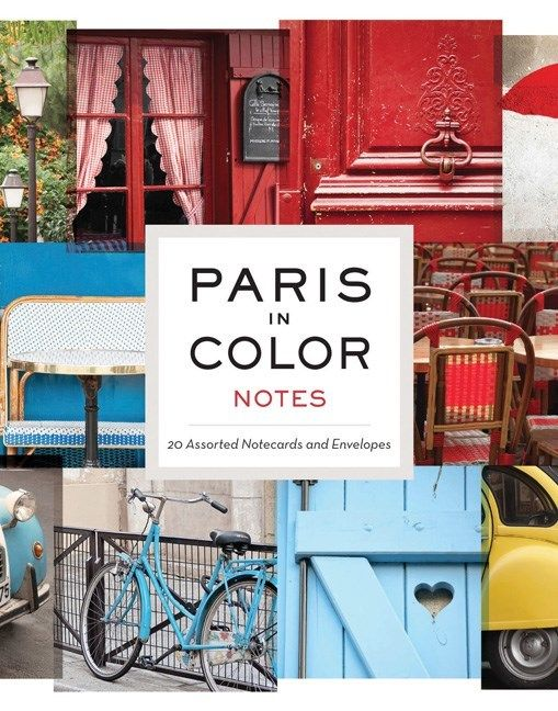 Chronicle Books Paris in Color (20 Assorted Notecards)