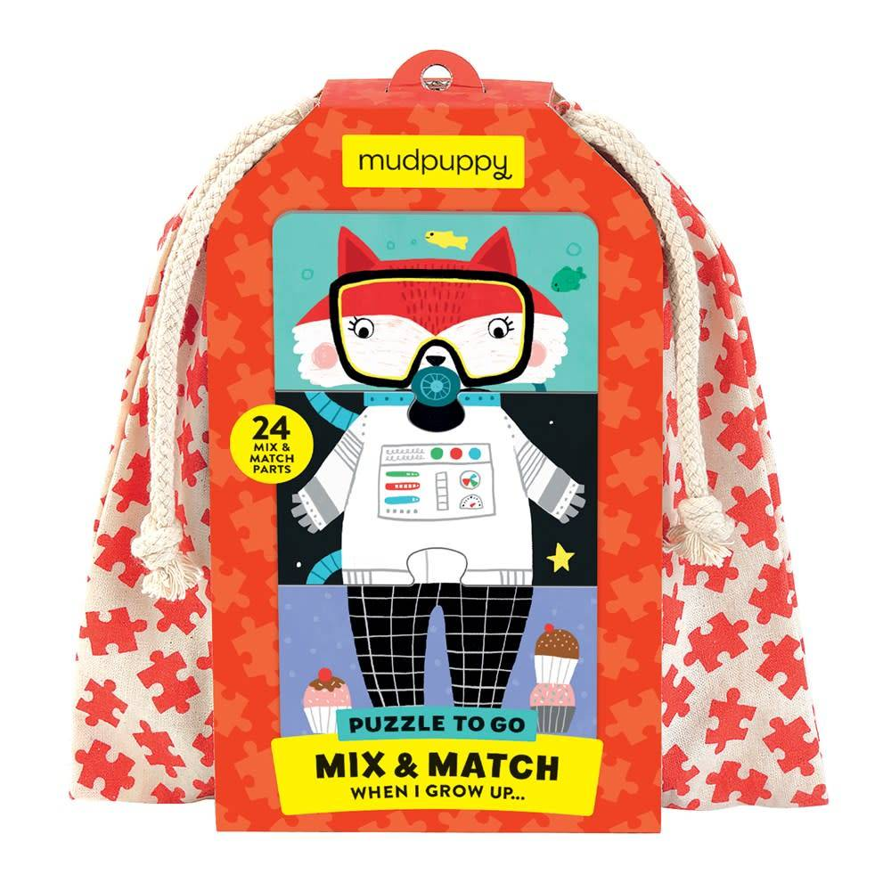 Mudpuppy When I Grow Up Mix & Match Puzzle To Go