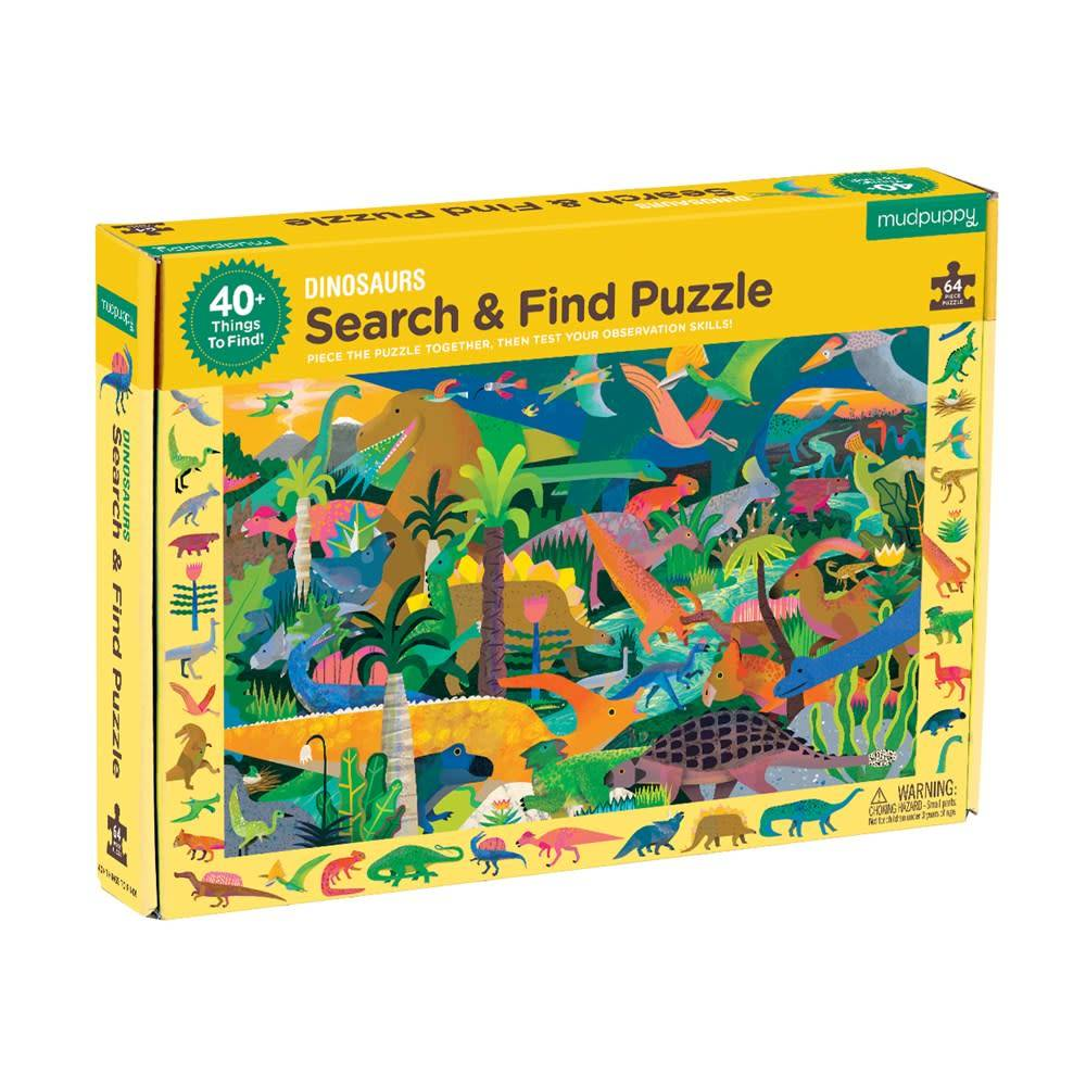 Mudpuppy Search & Find Puzzle: Dinosaurs (64-Piece Jigsaw)