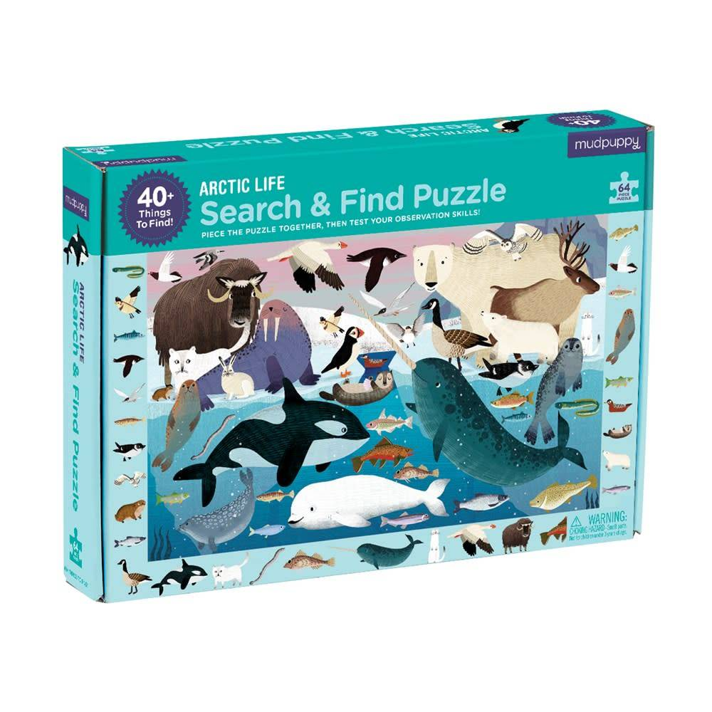 Mudpuppy Search & Find Puzzle: Arctic Life (64-Piece Jigsaw)
