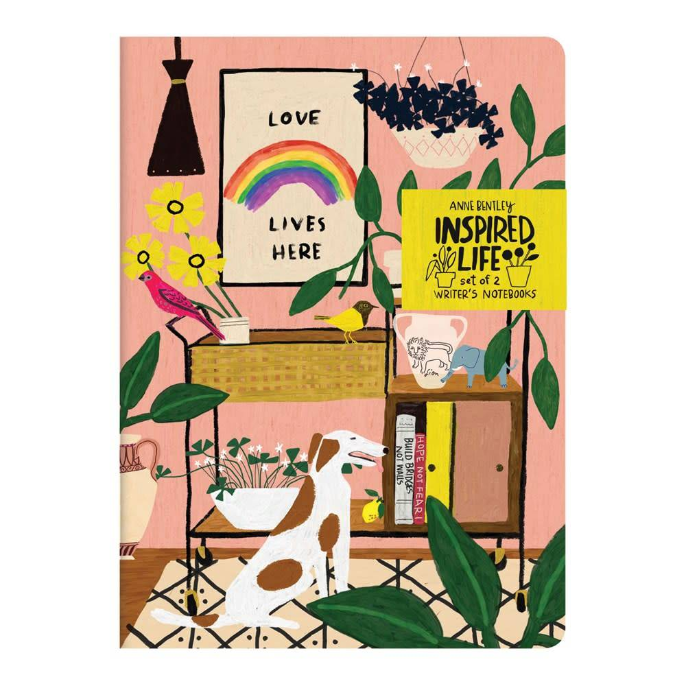 Galison Anne Bentley Inspired Life Writer's Notebook Set