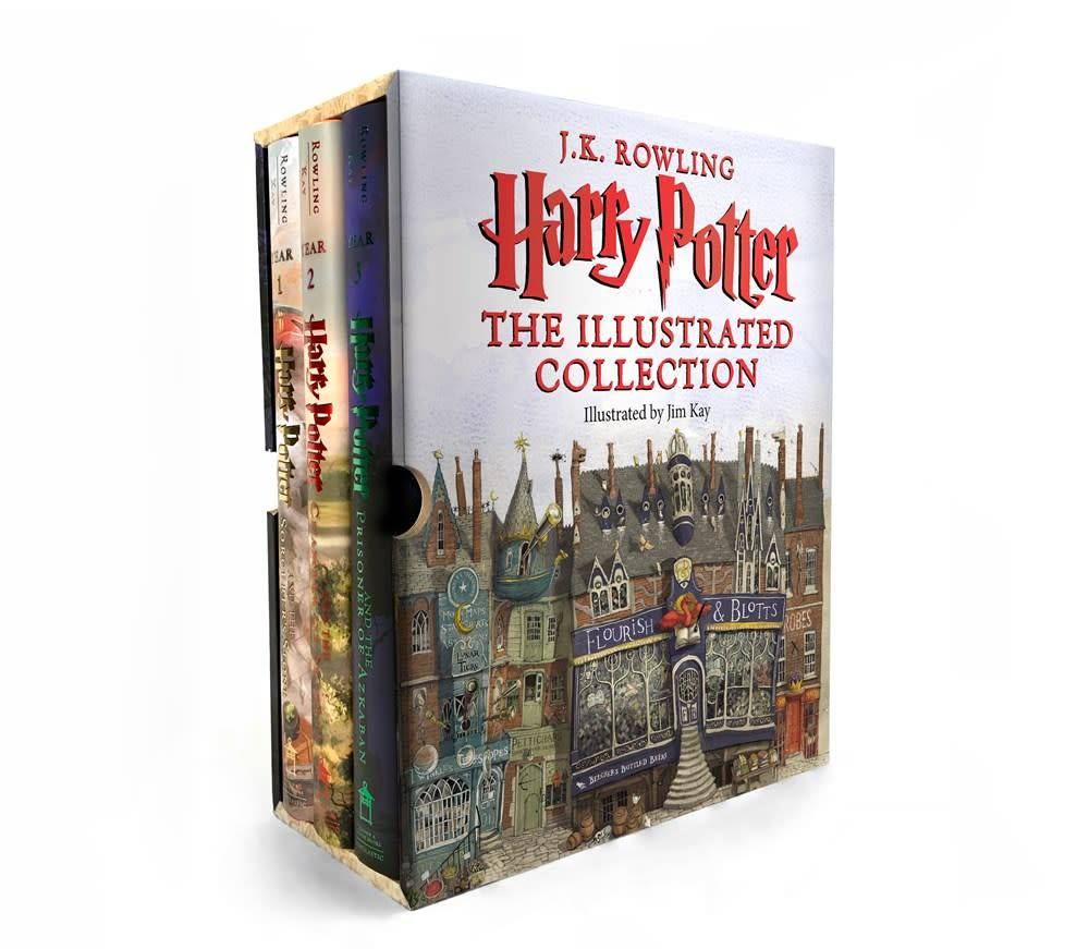 Arthur A. Levine Books Harry Potter: The Illustrated Collection Boxed Set (#1-3)