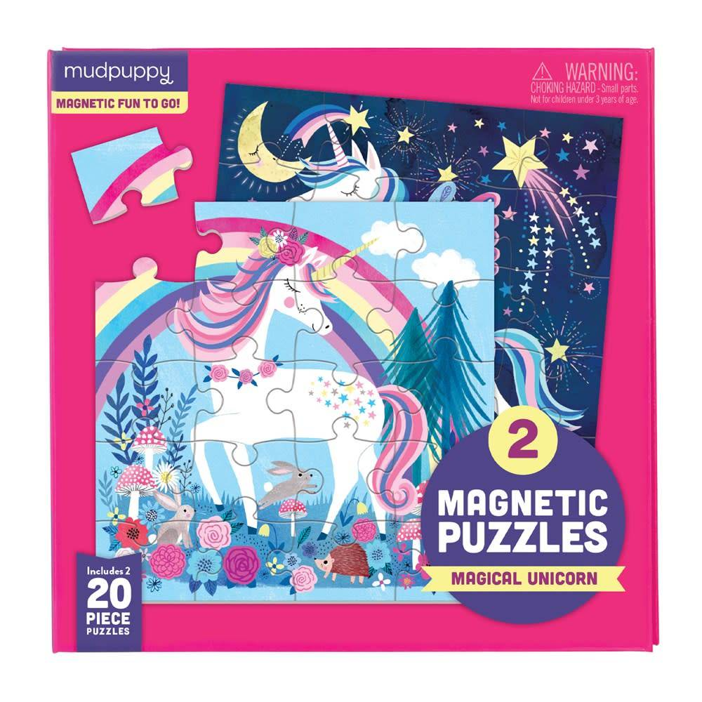 Mudpuppy Magnetic Puzzle: Magical Unicorn (20-Pieces)