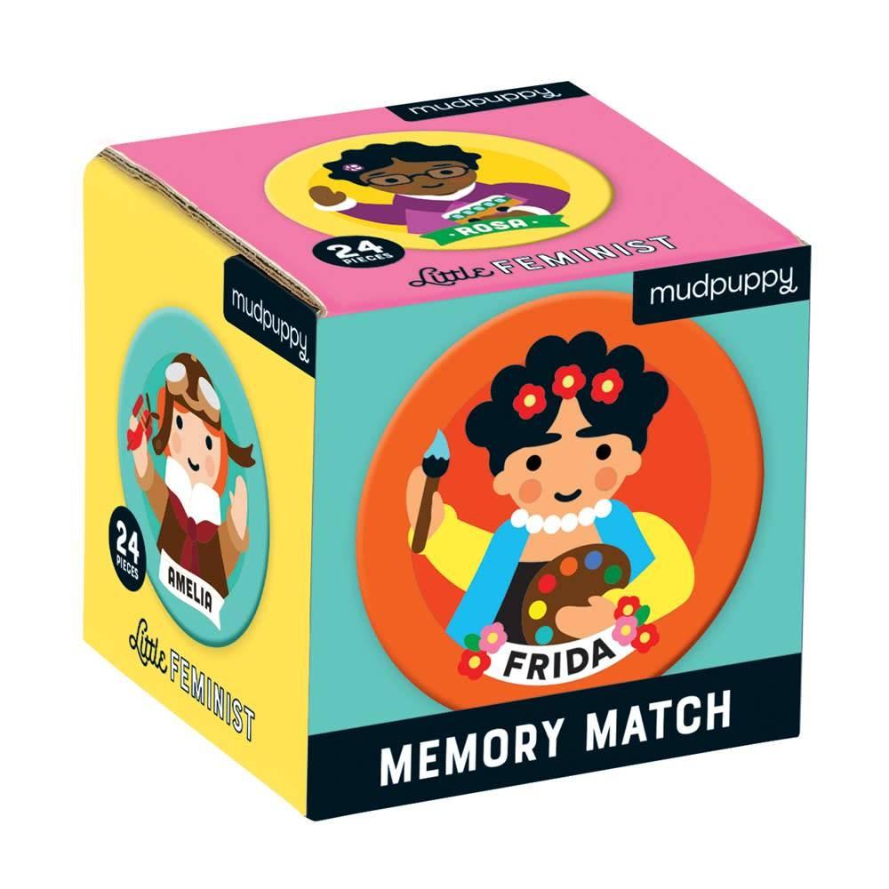 Mudpuppy Little Feminist Mini Memory Match Game