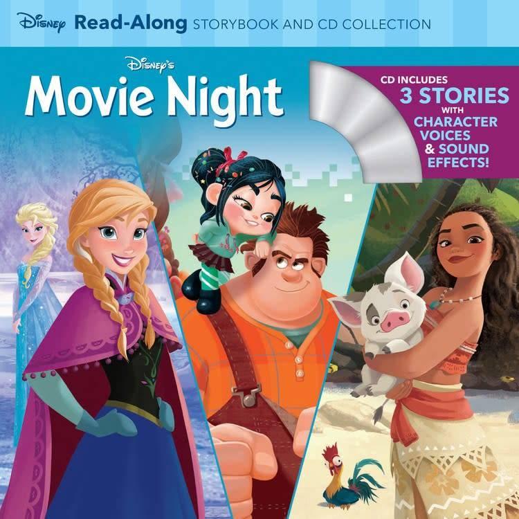 Disney Press Disney: Movie Night Read-Along (3-in-1 Storybook with CD)