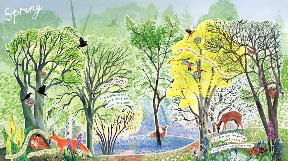 Laurence King Publishing A Year in Nature: A Carousel Book of the Seasons