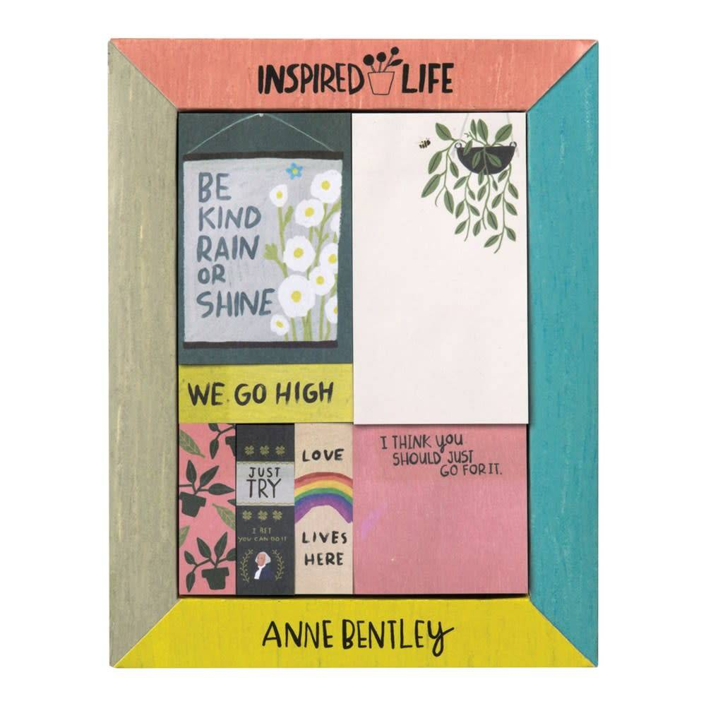 Galison Anne Bentley Inspired Life Desktop Sticky Notes Box