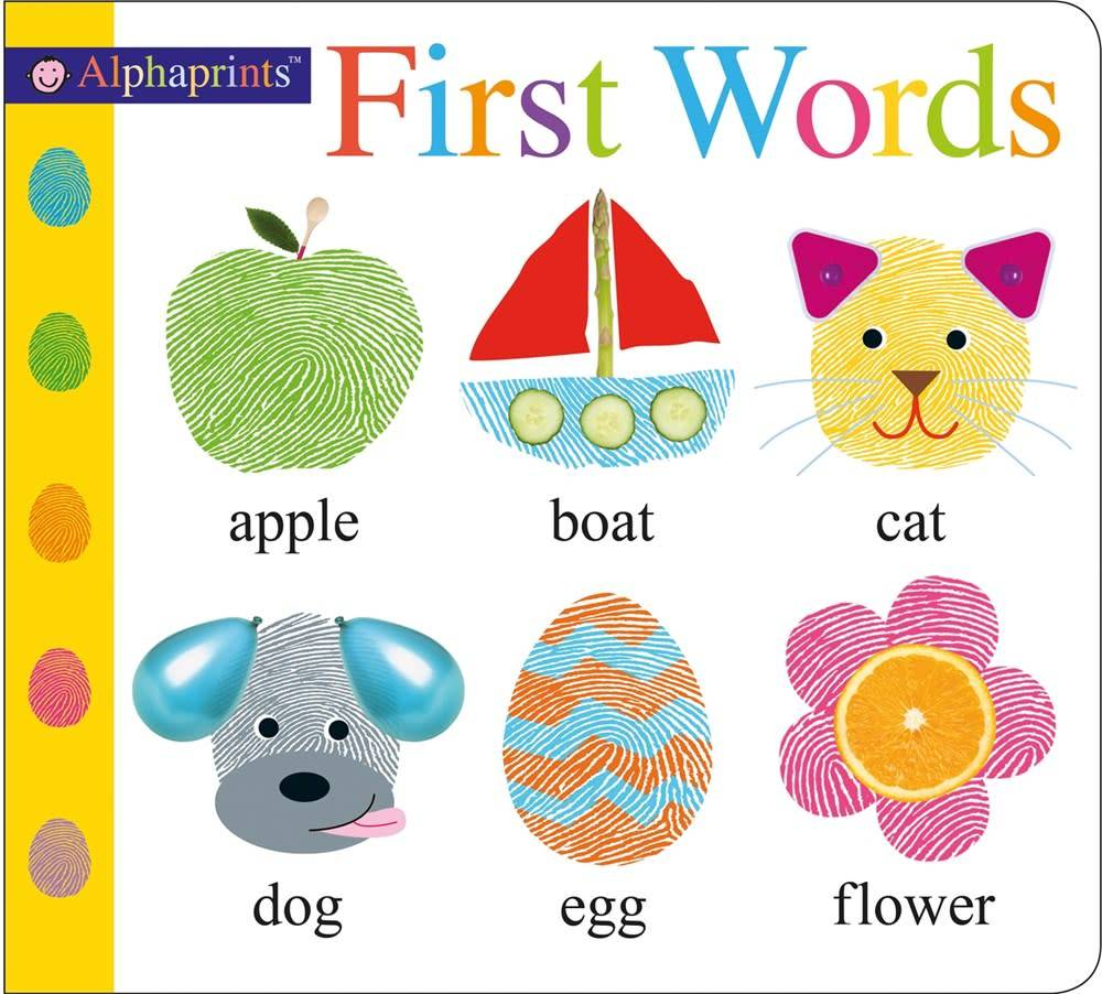 Priddy Books Alphaprints First Words