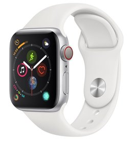 Apple MTUD2LL/A Apple Watch S4 40MM - Silver/White Sport Band (CELLULAR)