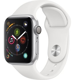 Apple MU642LL/A Apple Watch S4 40MM - Silver/White Sport Band