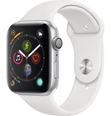 Apple MU6A2LL/A Apple Watch S4 44MM - Silver/White Sport Band